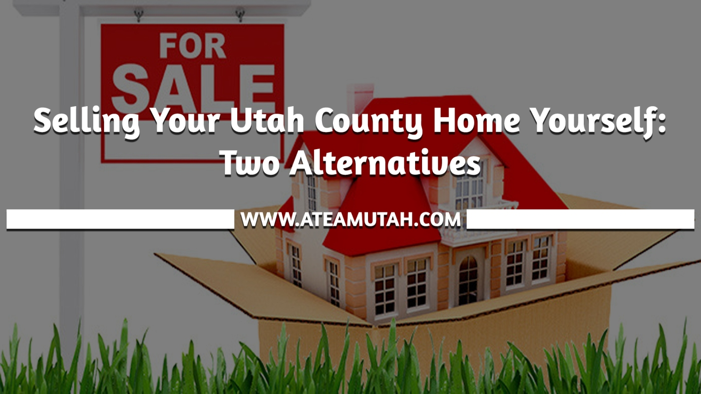 Selling Your Utah County Home Yourself: Two Alternatives
