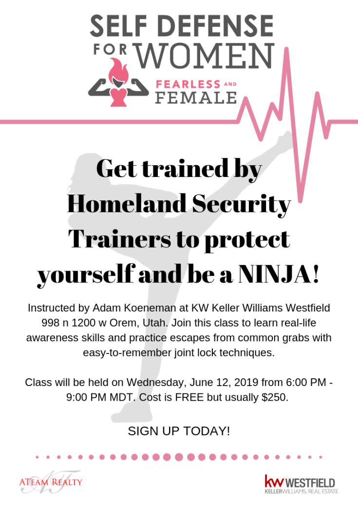 Get trained by FBI Trainers to protect yourself and be a NINJA!
